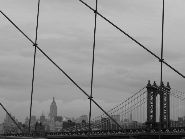 New York, vue de Brooklyn Bridge